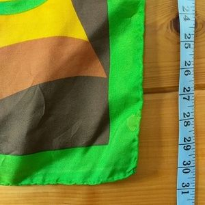Accessories - Vintage mod square scarf hand rolled Oversized